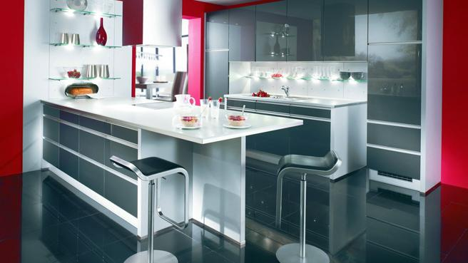 Beautiful Cuisine Rouge Et Blanche Images  Design Trends