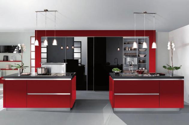 Cuisine rouge haut de gamme for Decoration murale haut de gamme