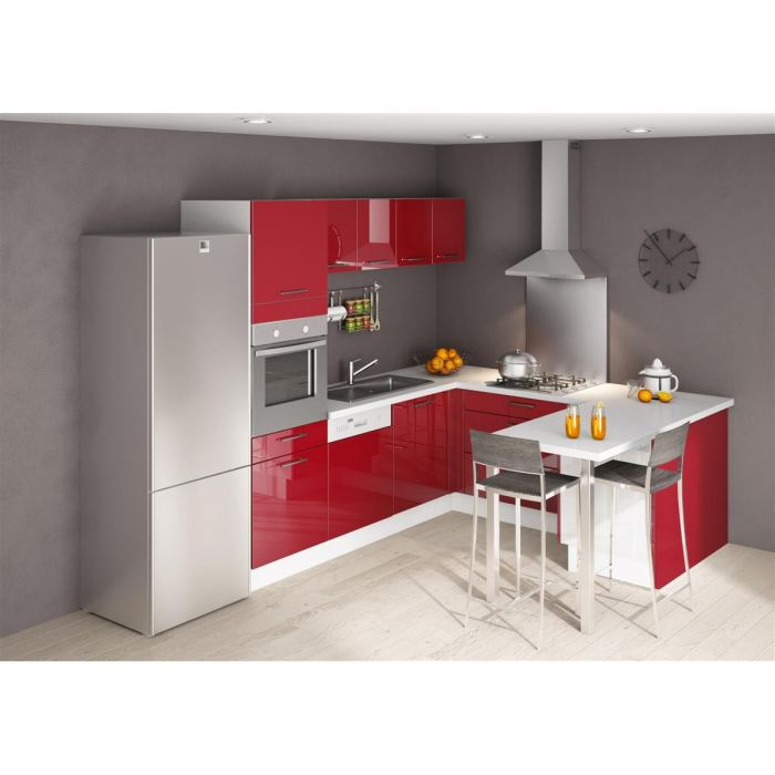 Cuisine rouge laque for Organisation cuisine