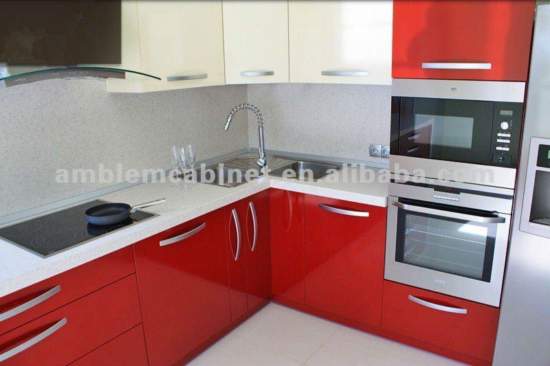 cuisine rouge laque. Black Bedroom Furniture Sets. Home Design Ideas