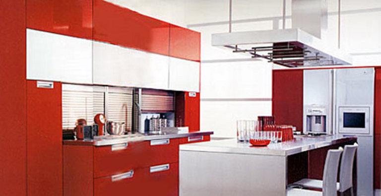 Cuisine rouge schmidt - Decoration cuisine schmidt ...