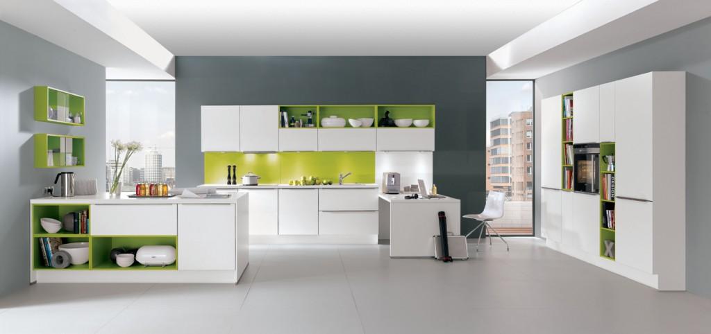 cuisine tendance vert. Black Bedroom Furniture Sets. Home Design Ideas