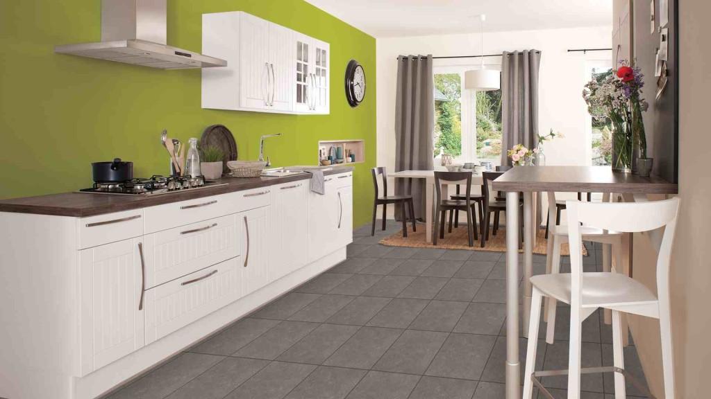 cuisine vert pomme et chocolat. Black Bedroom Furniture Sets. Home Design Ideas