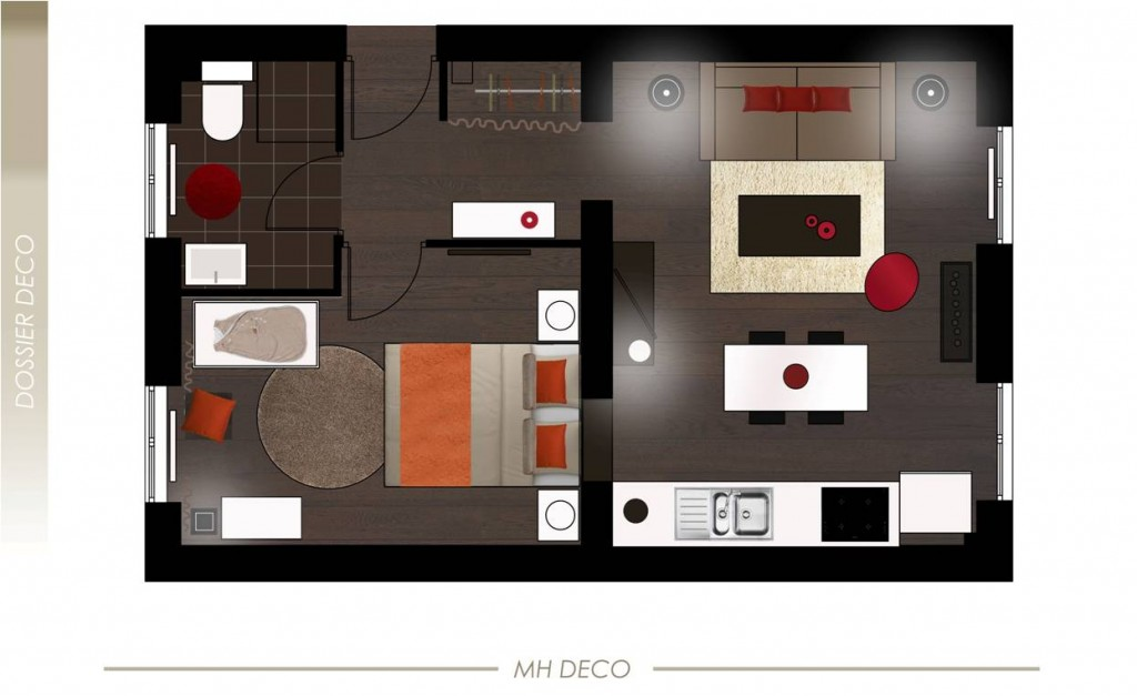 D co appartement en 3d - Am enagement appartement ...