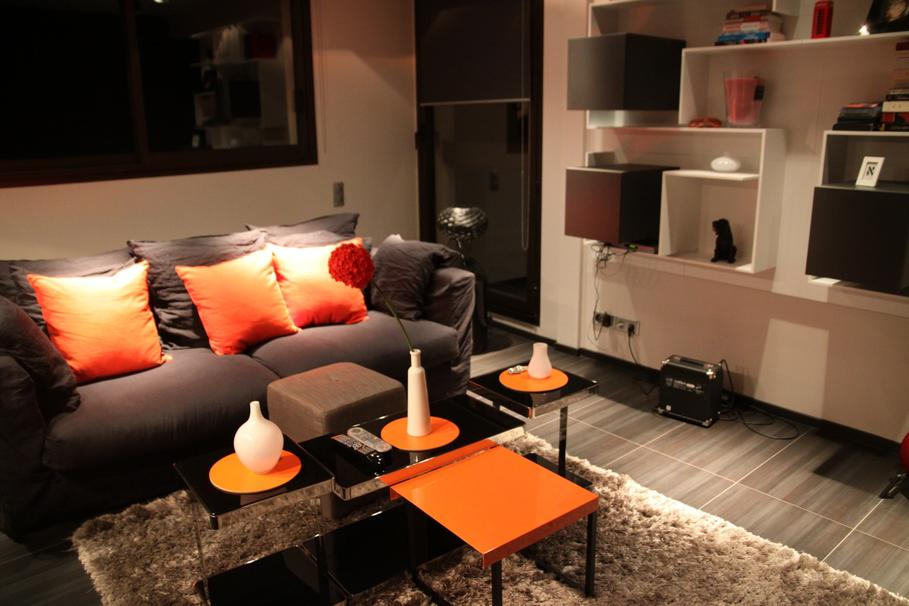 d co appartement orange. Black Bedroom Furniture Sets. Home Design Ideas