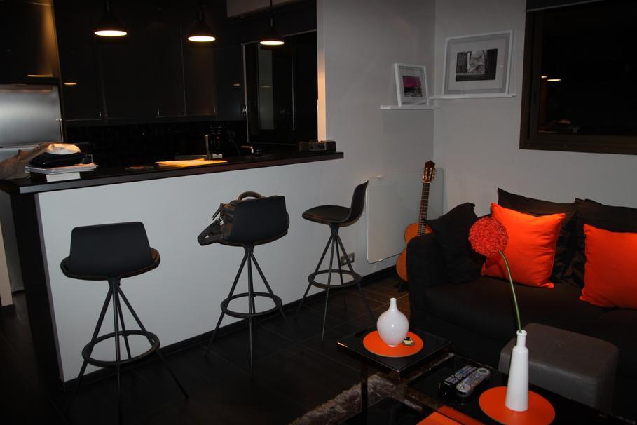 D co appartement orange for Exemple deco appartement