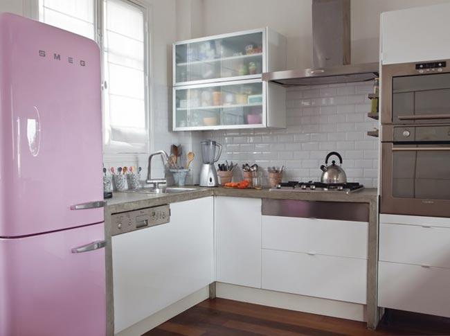 déco cuisine violet gris