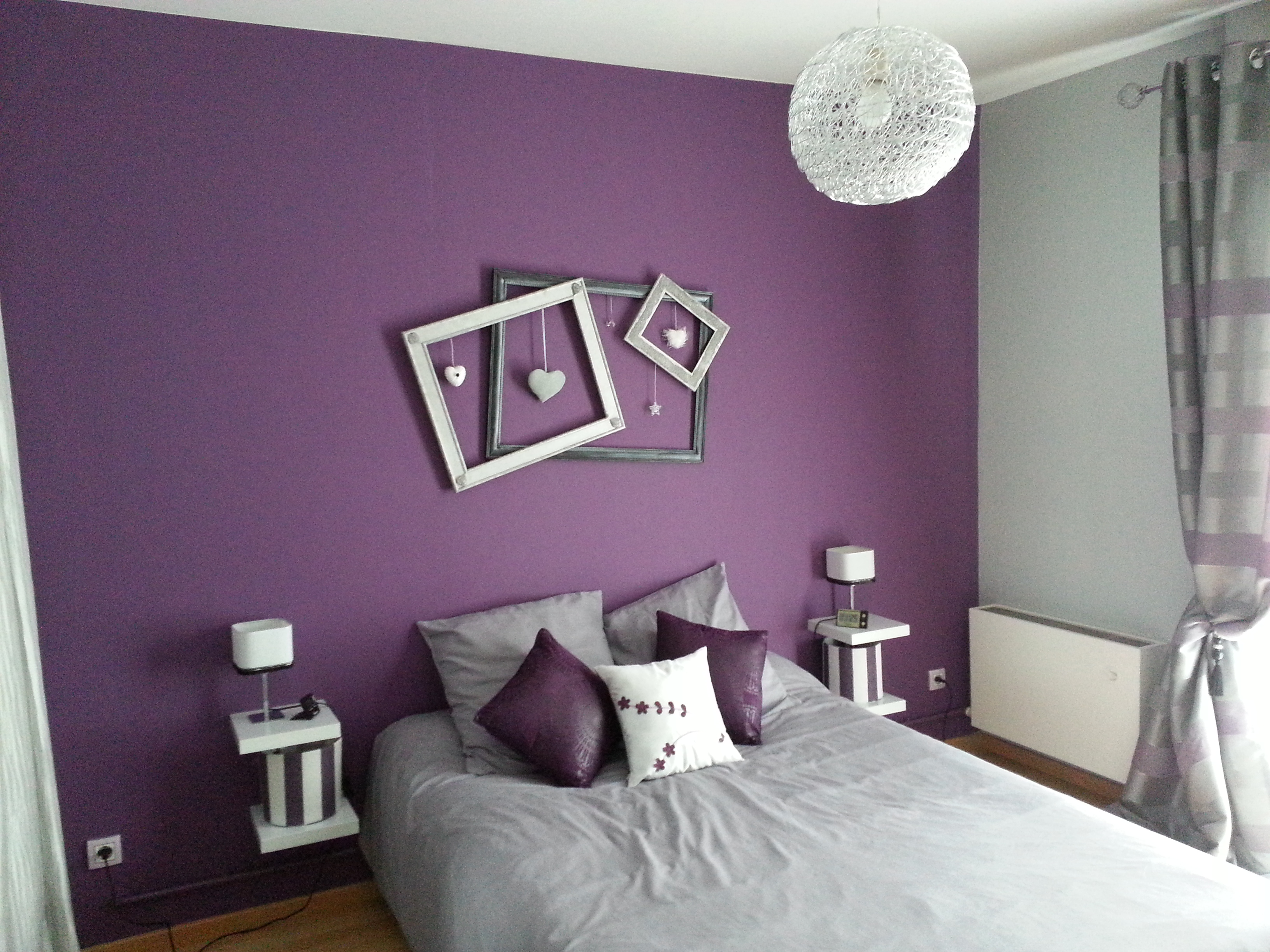 Photo decoration d co cuisine violet gris - Cuisine rose et gris ...