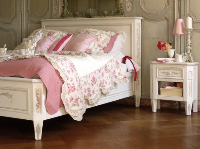 D co maison style romantique Modele de chambre romantique