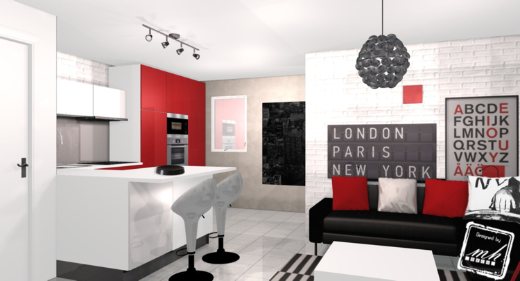 Photo decoration d co maison urbain - Deco salon style new york ...