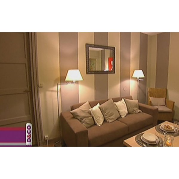 D co salon beige et marron for Salon moderne beige marron