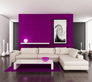 D co salon noir et violet for Deco salon noir blanc violet