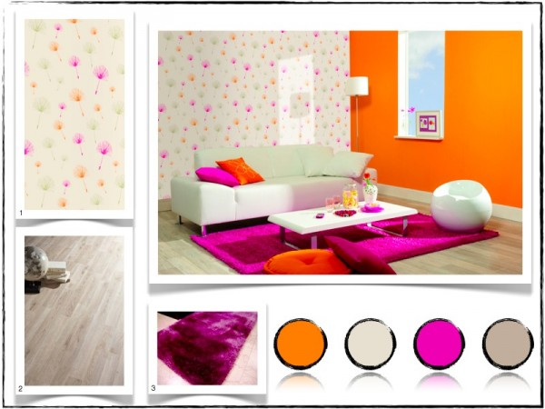 deco salon blanc et fushia pr l vement d 39 chantillons et une bonne id e de. Black Bedroom Furniture Sets. Home Design Ideas