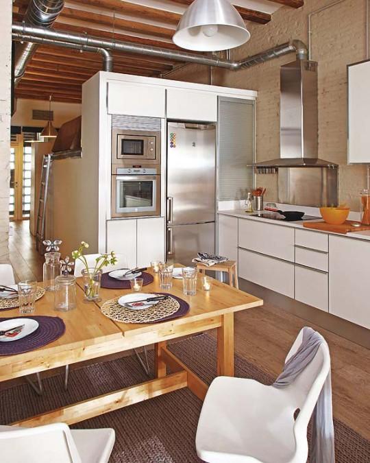 D coration appartement avec poutres for Modele deco appartement