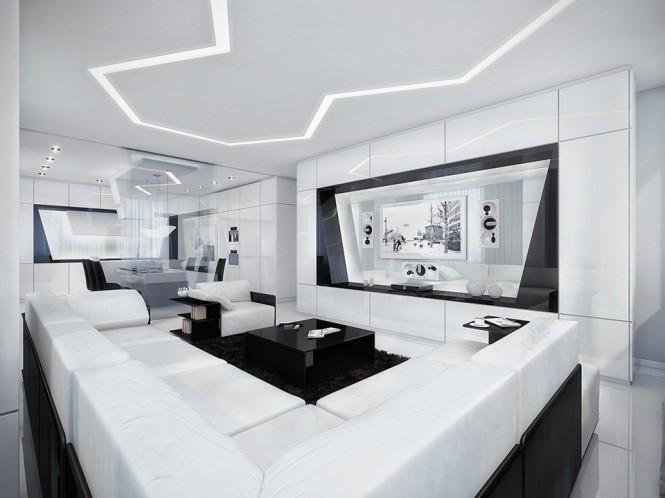décoration appartement noir et blanc