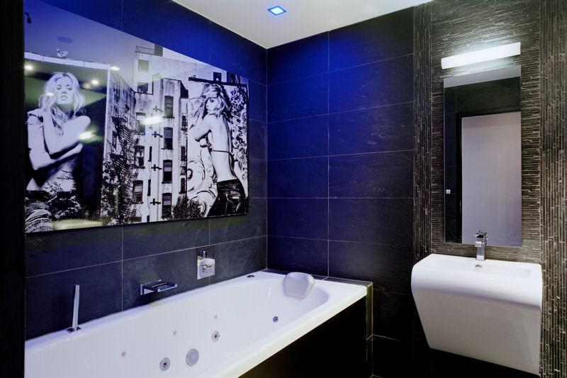 Beautiful Salle De Bain Noir Bleu Photos - House Design ...