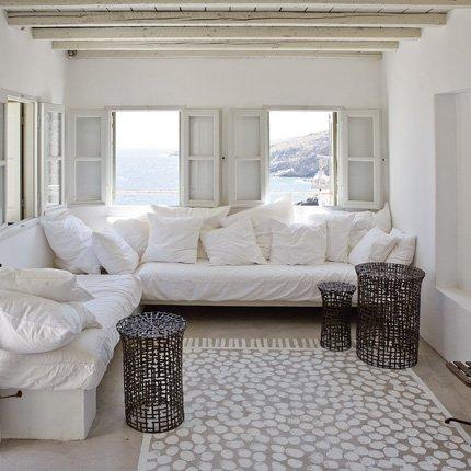 organisation décoration maison grecque - Photo Déco