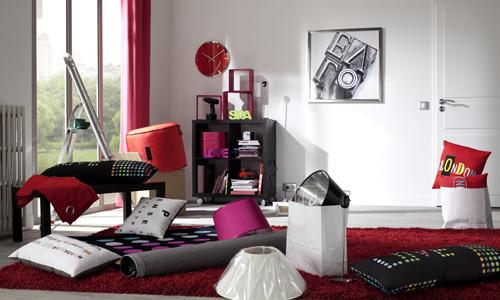Rideaux Rouge Salon