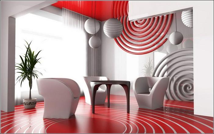 Modle Dcoration Maison Gris Et Rouge