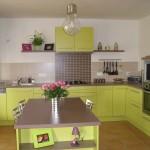 deco cuisine vert anis et gris
