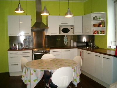 deco cuisine vert anis et gris. Black Bedroom Furniture Sets. Home Design Ideas