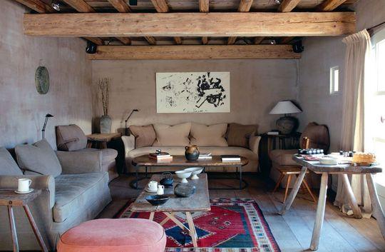 Deco salon avec poutres apparentes - Deco chambre avec poutre apparente ...