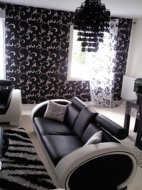 Best Salon Noir Et Blanc Deco Pictures - Amazing House Design ...