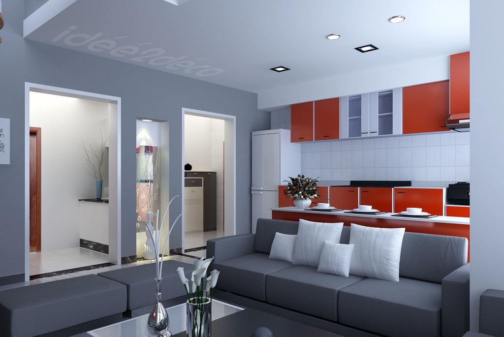 Aménagement Decoration Cuisine Et Salon - Images deco salon pour idees de deco de cuisine