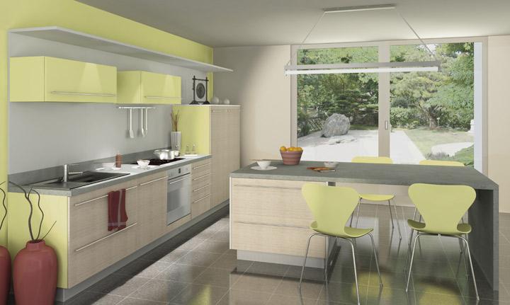 cuisine couleur verte. Black Bedroom Furniture Sets. Home Design Ideas