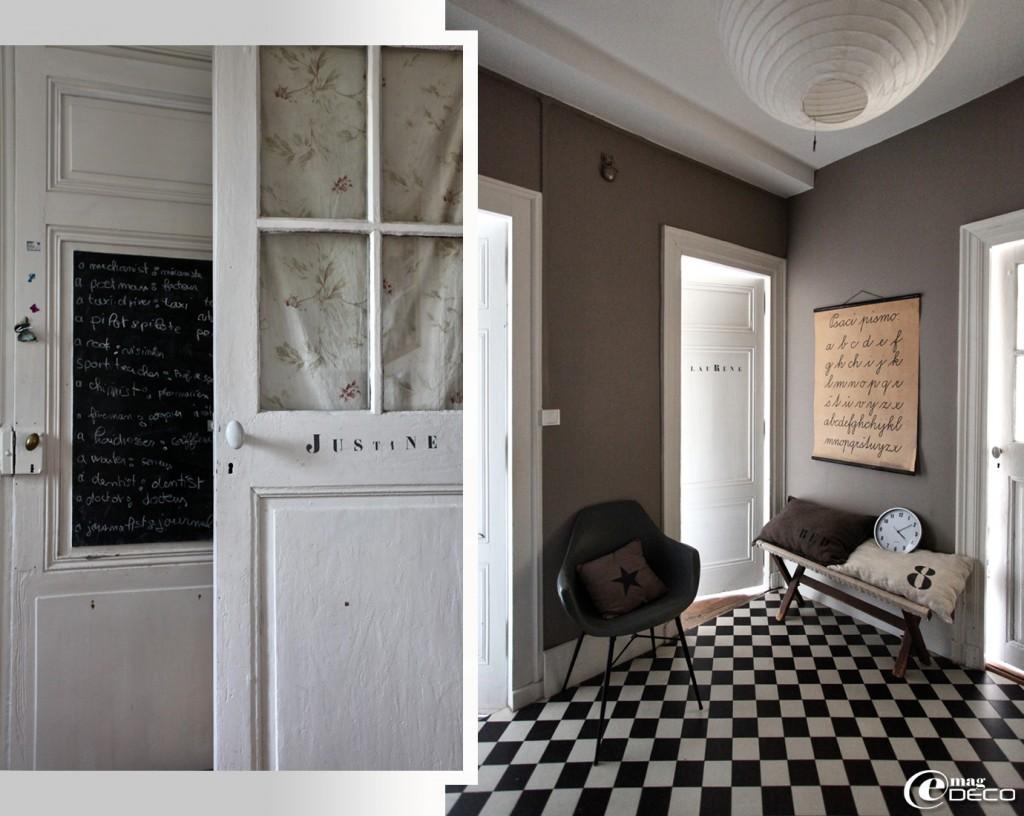 cuisine damier noir et blanc. Black Bedroom Furniture Sets. Home Design Ideas