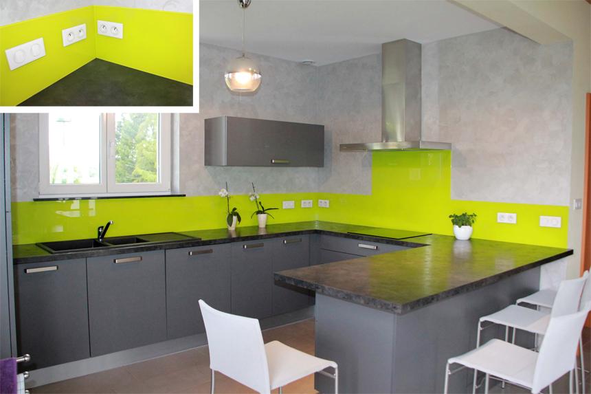 Cuisine en vert for Deco de cuisine vert