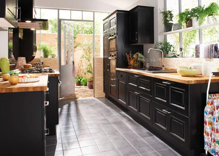 Cuisine lapeyre rouge bistro - Modele de decoration de cuisine ...