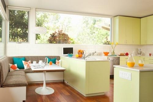 Chambre Bebe Gris Beige : idée cuisine moderne vert pistache