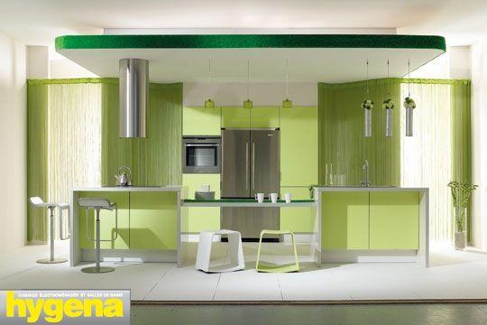 cuisine mur vert olive