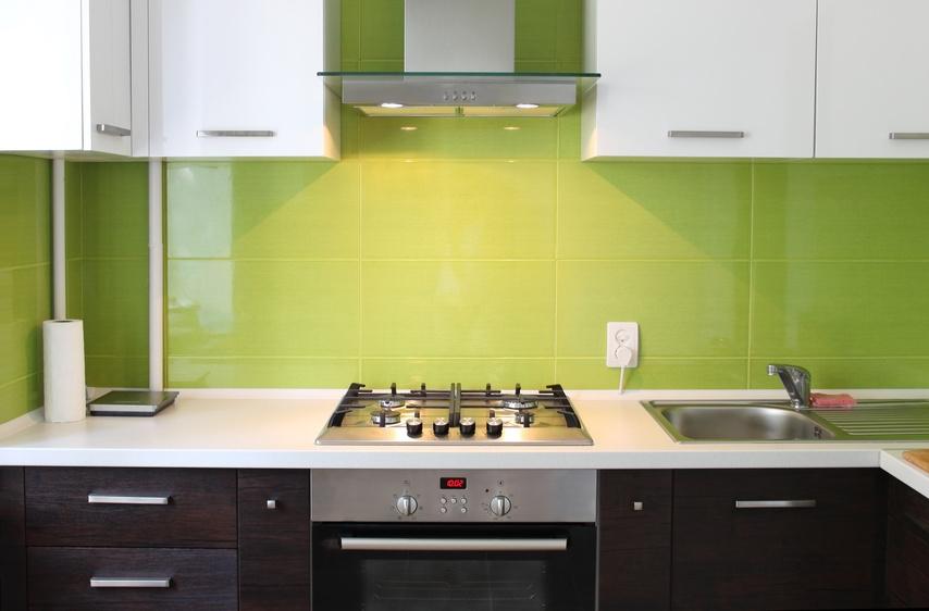 Cuisine mur vert olive - Cuisine vert olive ...