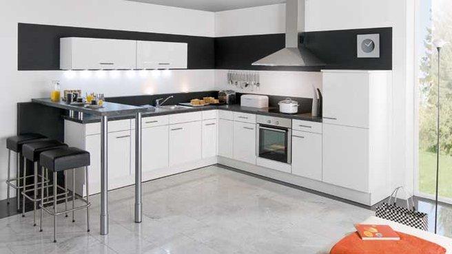 Cuisine noir ou blanche - Photos cuisine blanche ...