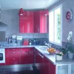 cuisine noir rouge gris