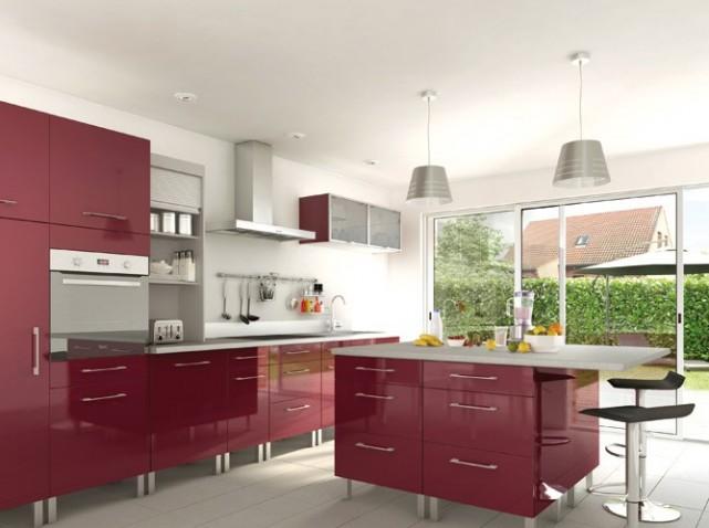 cuisine rouge castorama. Black Bedroom Furniture Sets. Home Design Ideas