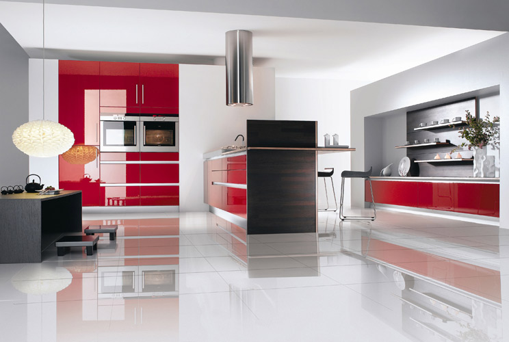 cuisine rouge cuisinella. Black Bedroom Furniture Sets. Home Design Ideas