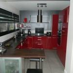 cuisine rouge fonce