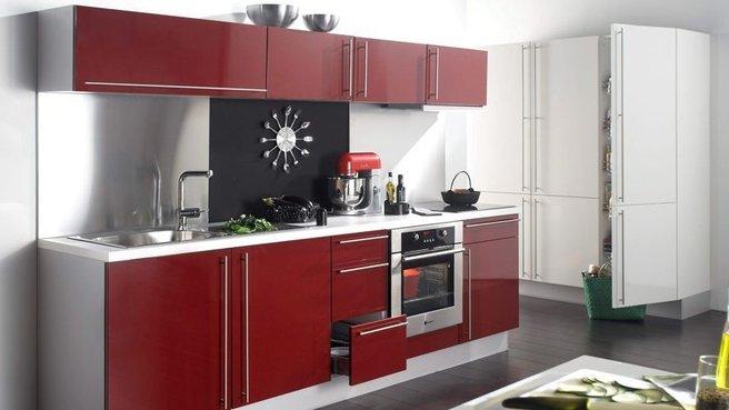 cuisine rouge fonce. Black Bedroom Furniture Sets. Home Design Ideas