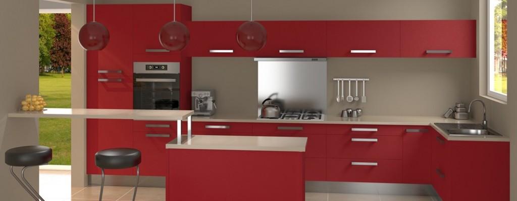 cuisine rouge mat resine de protection pour peinture. Black Bedroom Furniture Sets. Home Design Ideas