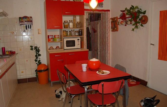 Cuisine rouge retro for Idee cuisine retro