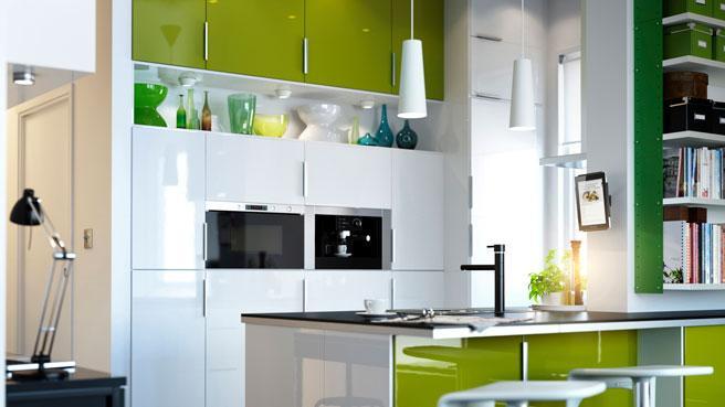 cuisine vert blanc