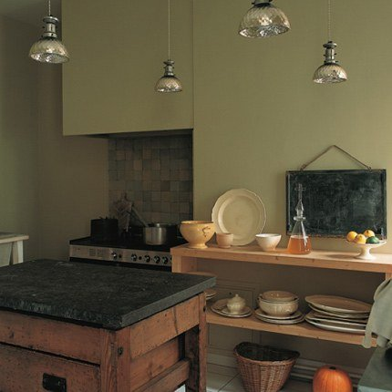 Cuisine vert bronze for Deco de cuisine vert