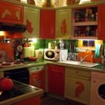 cuisine vert orange