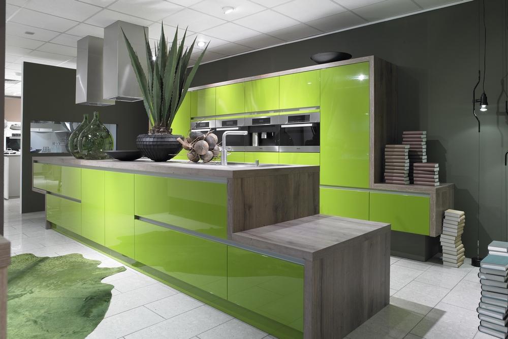 cuisine verte design. Black Bedroom Furniture Sets. Home Design Ideas