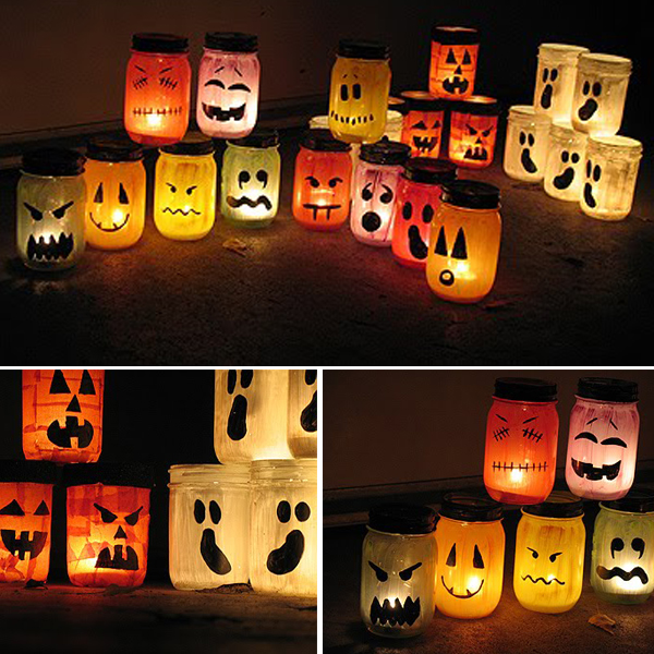 Decoration halloween exterieur fait maison ghost for Decoration exterieur halloween