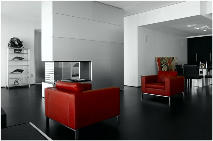 d co maison rouge et gris. Black Bedroom Furniture Sets. Home Design Ideas