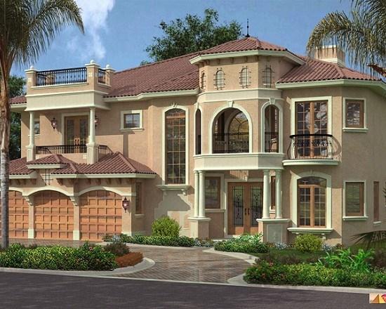 Maison Villa Fasad : Décoration maison facade